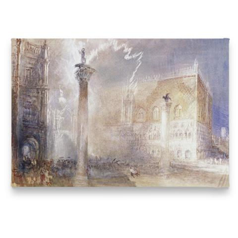 The Piazzetta, Venice by Joseph Mallord William Turner magnet