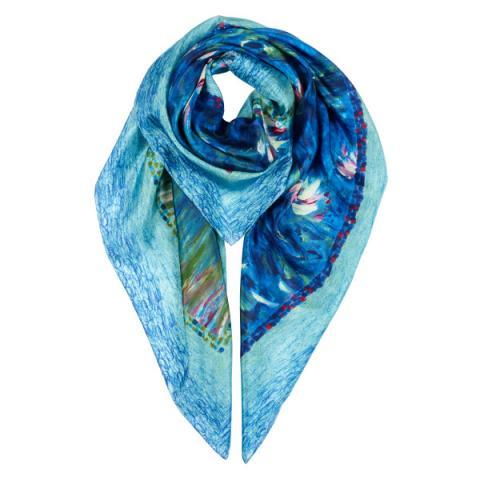 Nympheas Claude Monet Silk Scarf