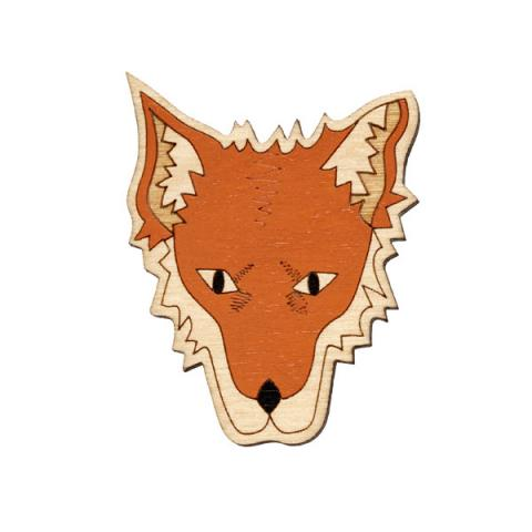 Twiggd Mrs Fox Wooden Badge