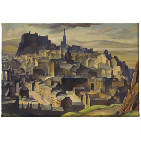 Edinburgh (from Salisbury Crags) William Crozier Magnet