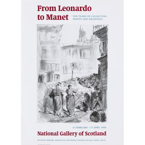 From Leonardo to Manet Exhibition Poster