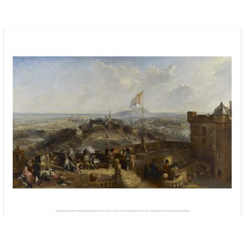 Edinburgh Old and New David Octavius Hill Art Print