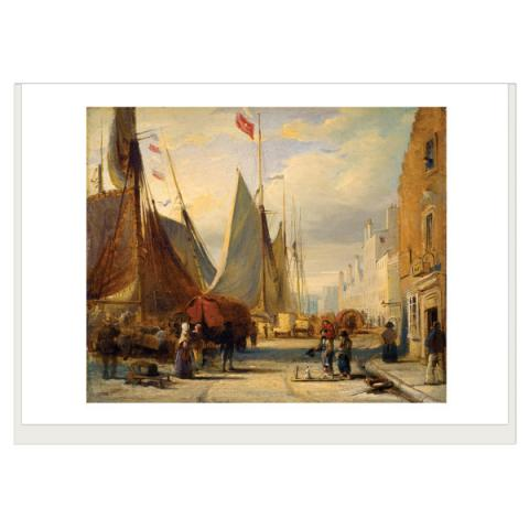 On the Quay at Leith David Octavius Hill Greeting Card