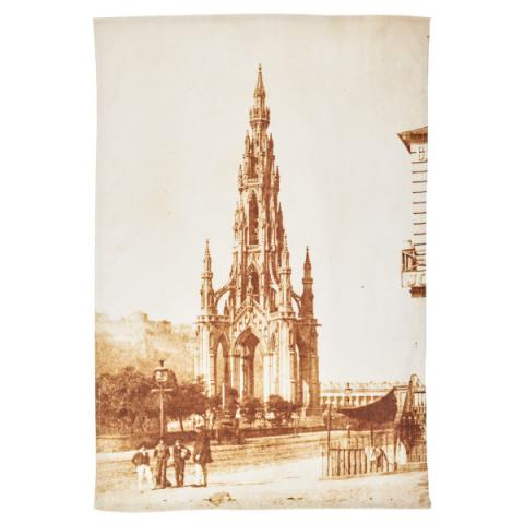 The Scott Monument Hill & Adamson Tea towel