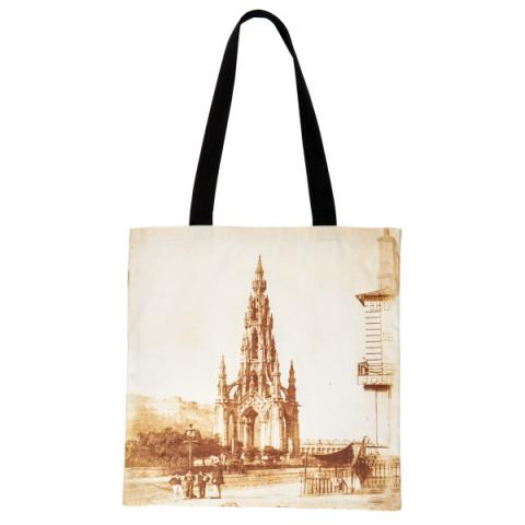 The Scott Monument reusable canvas tote bag