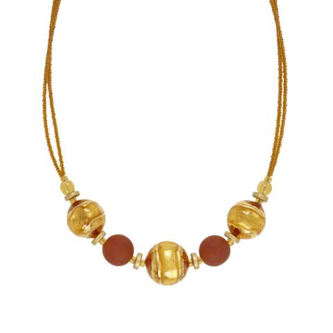 Murano Glass Berenice Gold Necklace