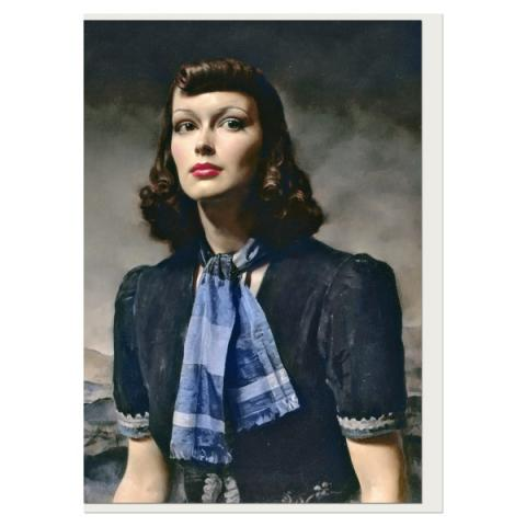By the Hills Gerald Leslie Brockhurst Greeting Card