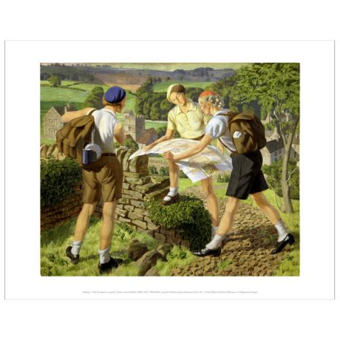 Hiking James Walker Tucker Art Print