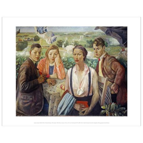 A Portrait Group James Cowie Art Print