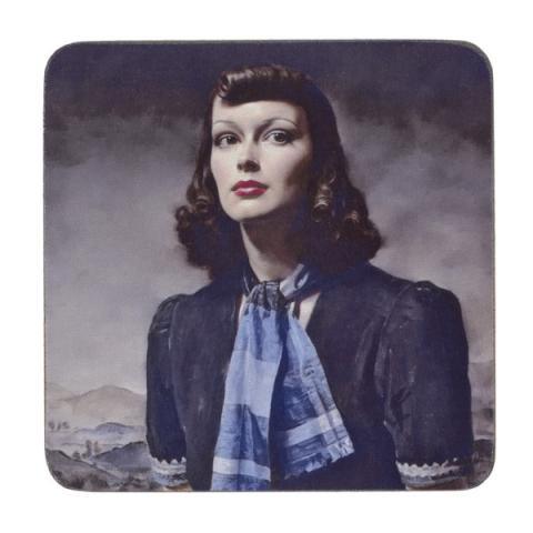 By the Hills by Gerald Leslie Brockhurst coaster