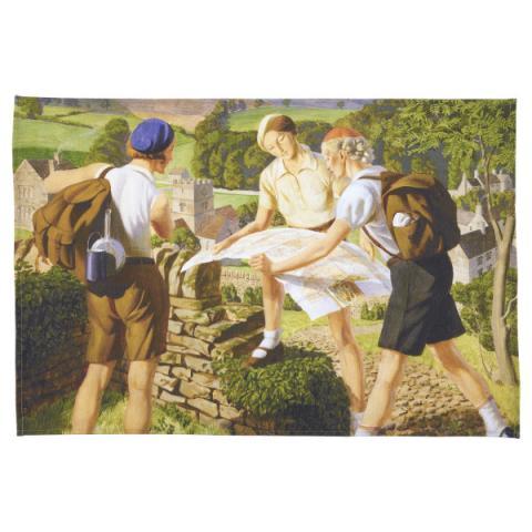 Hiking James Walker Tucker Tea Towel