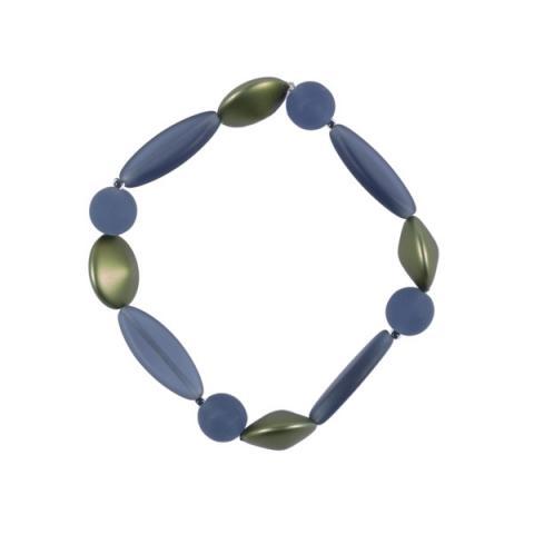 Murano Glass Sage Satin Bead Bracelet