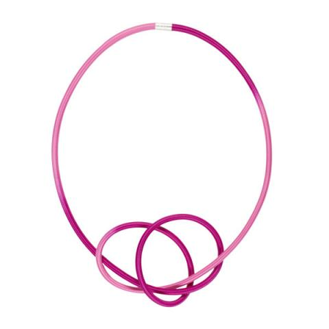 Gilly Langton Baby Cerise Knot Necklace
