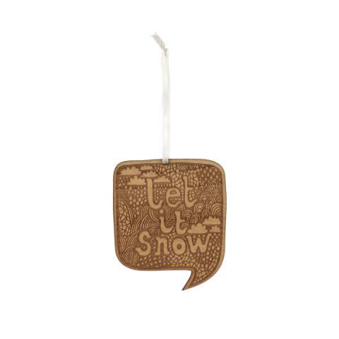 Let it snow wooden Christmas decoration