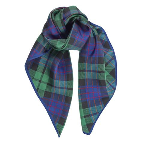 National Galleries of Scotland Tartan Square Silk Scarf