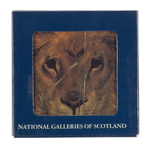 Una and the Lion William Bell Scott Ceramic Coaster