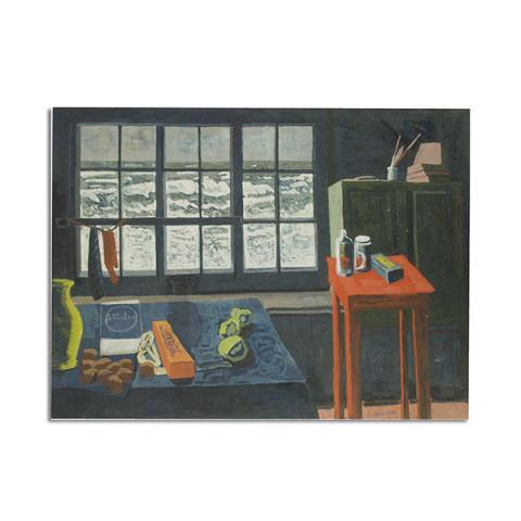 The Blue Studio by Wilhelmina Barns-Graham greeting card