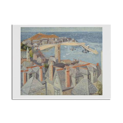 View of St. Ives by Wilhelmina Barns-Graham greeting card