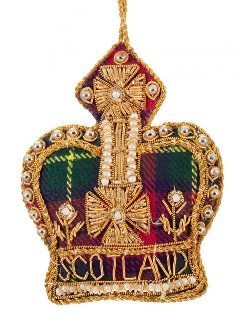 Tartan Crown Scotland Decoration