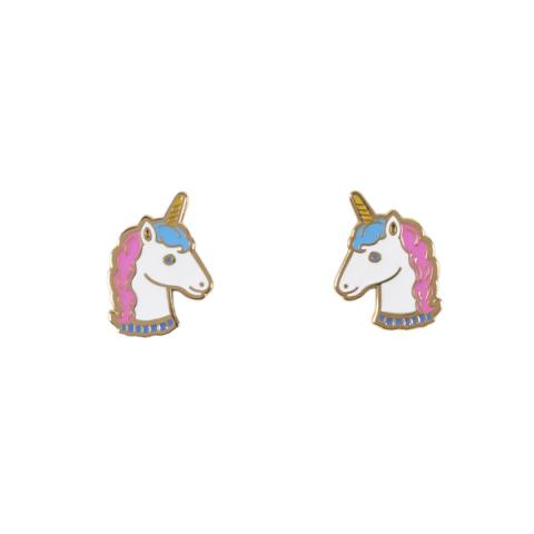 Acorn & Will Unicorn Enamel Earrings
