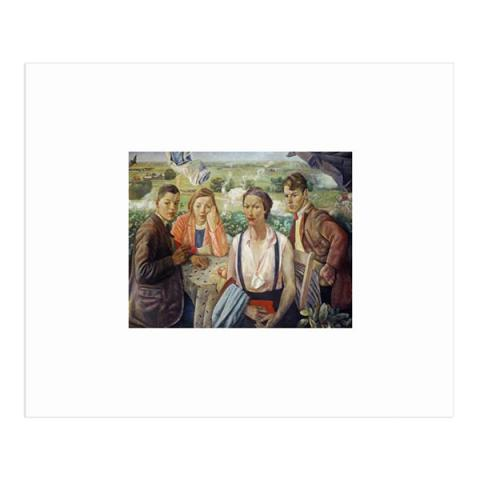 A portrait group by James Cowie (15 x 20 cm) mounted print