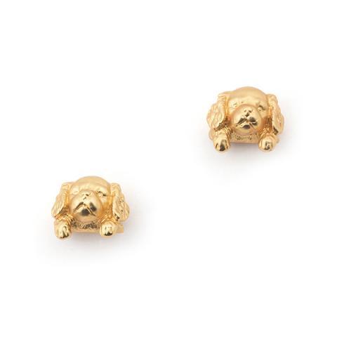 Puppy spaniel stud earrings