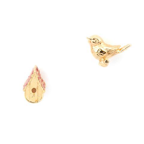 Birdhouse stud earrings