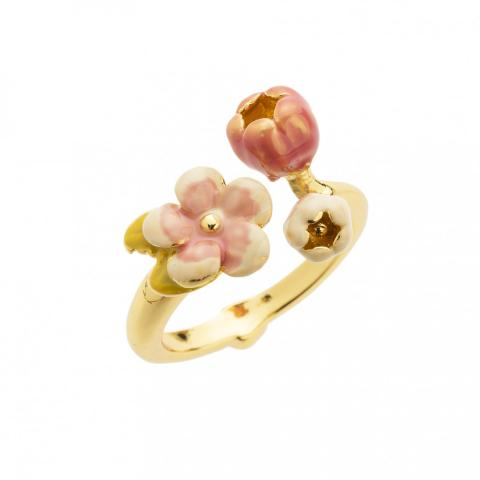 Cherry blossom gold open ring
