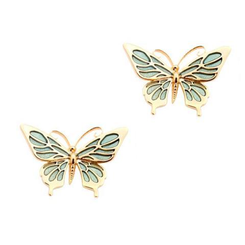 Butterfly mini gold-plated stud earrings