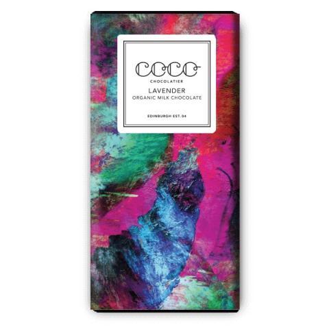 Coco Chocolatier organic lavender milk chocolate