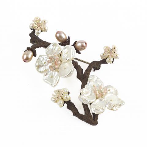 Michael Michaud Cherry Blossom Brooch