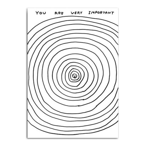 Important by David Shrigley greeting card