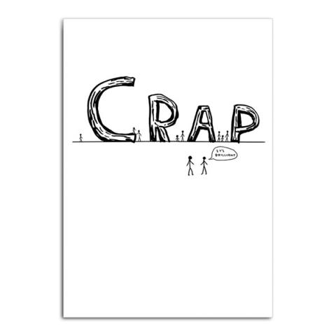 Crap by David Shrigley greeting card