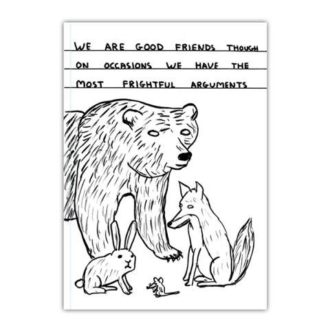 Frightful arguments by David Shrigley A6 notebook