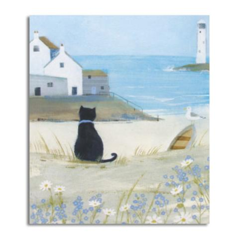 Sea cat greeting card