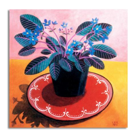 African violets greeting card