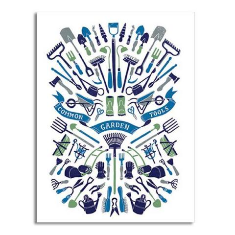 Common garden tools greeting card