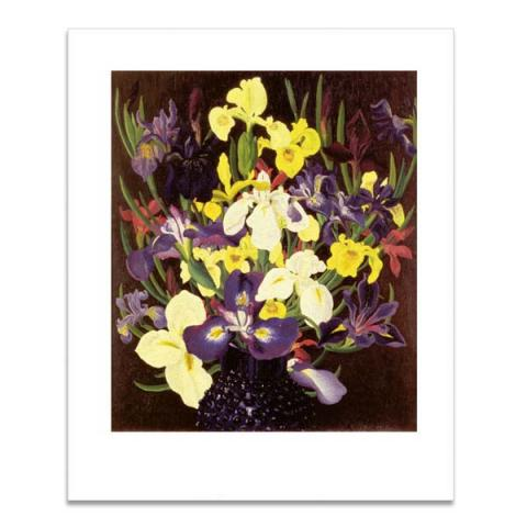 Group of irises greeting card