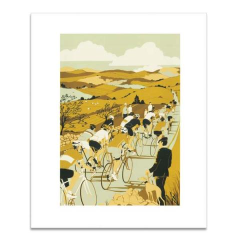 Tour de Yorkshire greeting card
