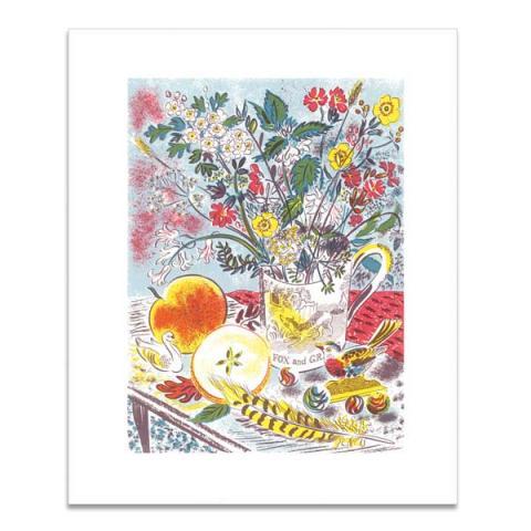 Fox and grapes greeting card