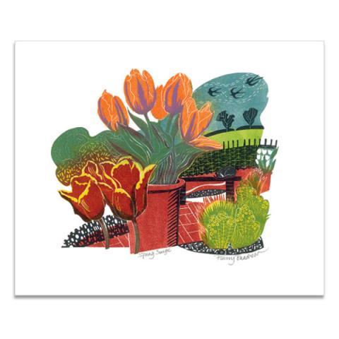 Spring surge greeting card