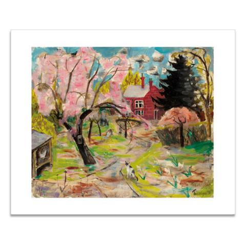 The cherry tree greeting card