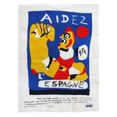 Aidez L'Espagne Joan Miro Tea Towel
