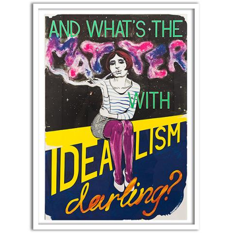 What's the Matter with Idealism by Charles Avery framed poster print