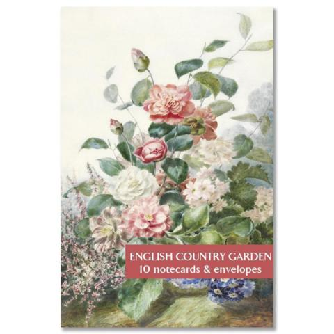 English country garden notecard set (10 cards)