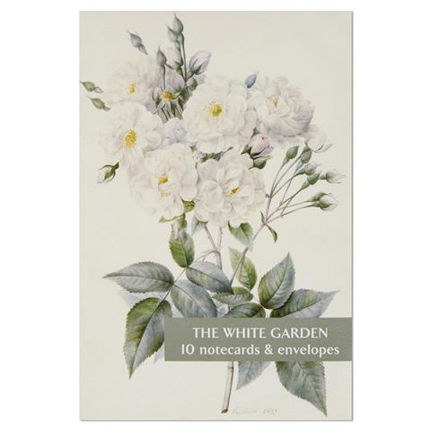 White garden notecard set (10 cards)