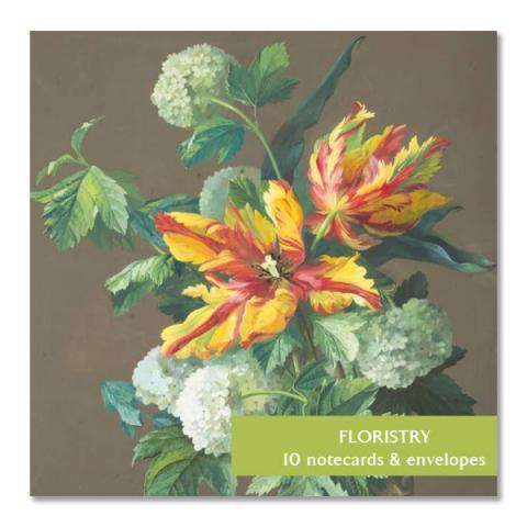Floristry square notecard set (10 cards)