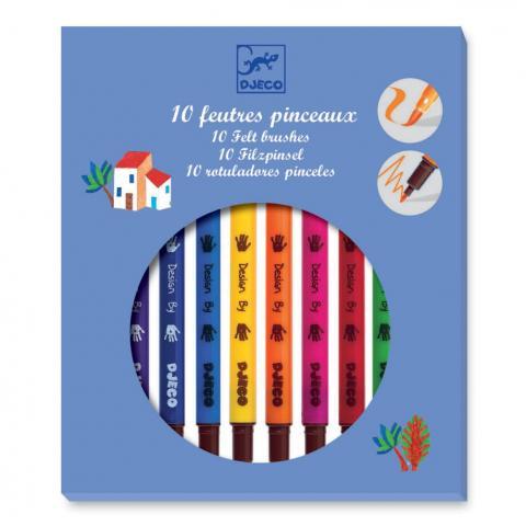 Djeco Box of 10 Felt Brushes