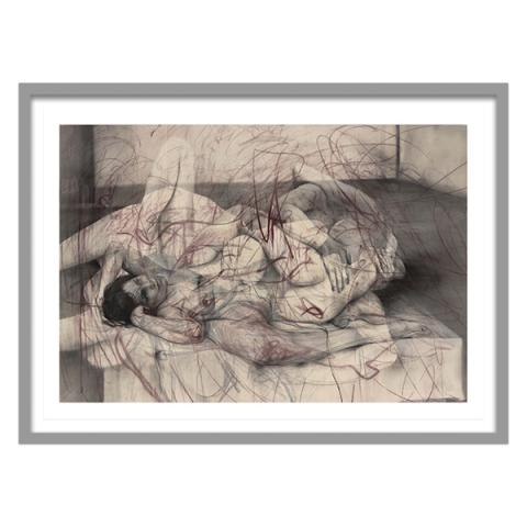 One out of two (symposium) by Jenny Saville framed limited edition print