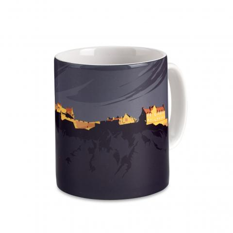 Edinburgh Castle graphic ceramic mug